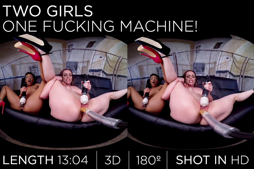 Two Girls One Fucking Machine!
